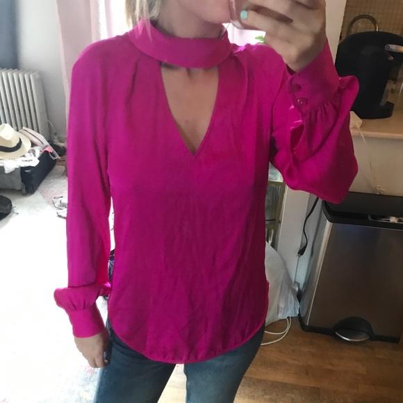 Trina Turk Tops - TRINA TURK - hot pink silk top